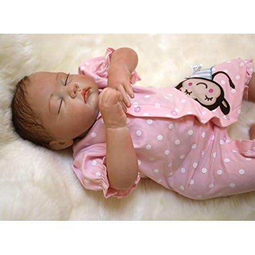 HOOMAI 20inch 50 cm bebe reborn niña muñeca realista Niño pequeño suave silicona vinilo reborn baby doll Niñas Magnetismo Juguetes girls recien nacidos Ojos cerrados