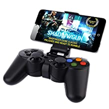 Betely Shop Wireless Bluetooth Gamepad Joystick - Portable Game Controller for VR Iphone 6, 6plus, Samsung S6, S5, S4, HTC, SONY, Android Smart Phone, Tablet PC, TV BOX - Black
