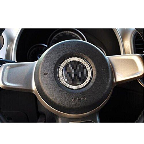 DeAutoBug Steering Wheel Badge Emblem Overlay Decal Decoration Cover Sticker Trim for VW Volkswagen Beetle 2012 2013 2014 2015 2016 2017 ()