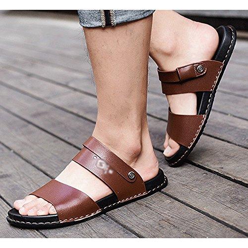 Brown Al Para Peep Hombre Zapatos De Zapatillas De Playa De Toe Aire Zapatillas Verano Baño Sandalias Transpirables Viaje Antideslizantes Libre RwZFWqHR