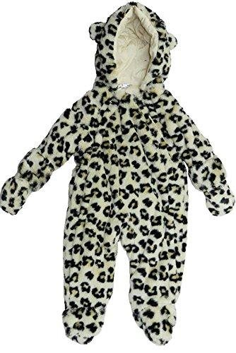 Unisex Infant Baby Snowsuit Pramsuit Romper - Leopard (3- 6) New Line Products