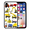 Emvency iPhone case for iPhone X case Vehicle of Industrial Transportation Machine Construction Equipment Digger for iPhone x Covers case Parent Variation