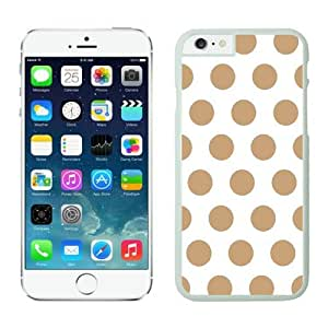 Iphone 6 Plus Case 5.5 Inches, Polka White and Brown Dot Element White Phone Protective Speck Cover Case for Apple Iphone 6 Plus Accessories