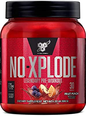 BSN N.O.-XPLODE Pre-Workout Supplement with Creatine, Beta-Alanine, and Energy, Flavor: 60 Servings