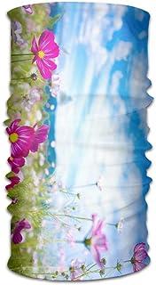Garden Pink Flower e Nice Wallpaper Fascia originale con multifunzione Sport e tempo libero Headwear Protezione UV Sport Collo, sudore-assorbente in microfibra Corsa, Yoga, Escursionismo Fashion5