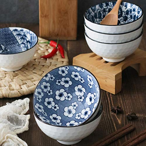 YLee Ceramic Bowl Bone China Cutlery Set Jingdezhen Tableware Chinese Blue and White Porcelain Tableware Kitchen Dining Supplies,C by YLee (Image #2)