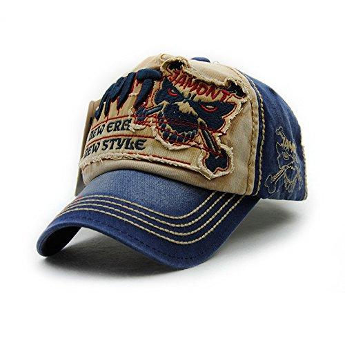 [Gorras Beisbol Planas Snapback Caps Wolf Bone Baseball Cap Golf Hats For Men Women Casquette Hip Hop Boys Homme Driver Sun Hat (Number 4 Beige)] (Mannequin Homme En Costume)