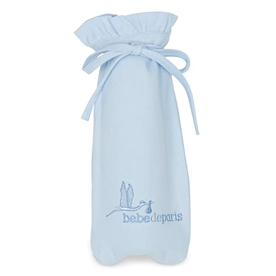 Canastilla regalo bebé Clásica Plena con Oso BebeDeParis-Azul- cesta regalo recién nacido