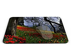 Flowers Rectangle Mouse pad - Mouse Pad / Mouse pad / Mousepad / Mousepad - AArt #MP027 (9.84 X 7.87 inches)