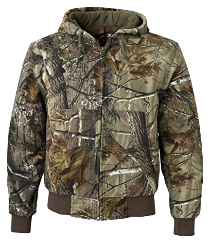 - DRI Duck Men's 5020 Cheyenne Hooded Work Jacket, Realtree Xtra, Small