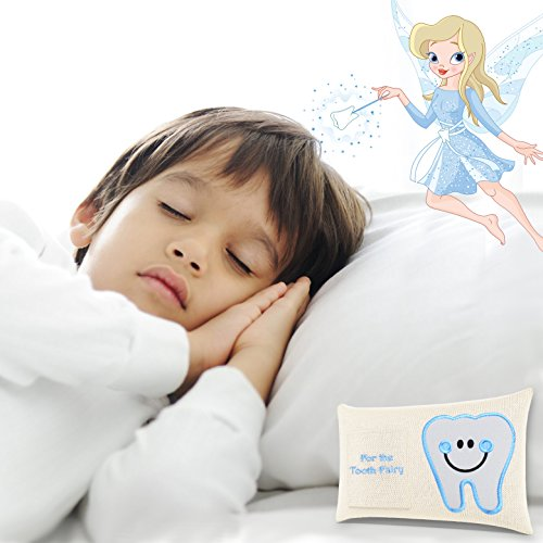 CHERISHED KID Tooth Fairy Pillow Kit for Boys with Pouch and Letter Note – Keepsake Box Makes it a Great Gift Idea for Kids by E-Com Highway (Image #4)