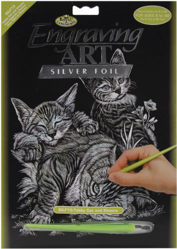 - Royal and Langnickel Silver Engraving Art, Tabby Cat and Kittens