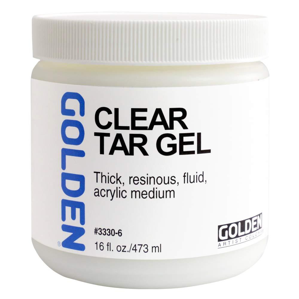 Golden Artist Colors - Clear Tar Gel - 16 oz Jar MACPHERSON
