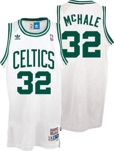brand new cdb3a 4bf01 Amazon.com : Kevin McHale Jersey: adidas White Throwback ...