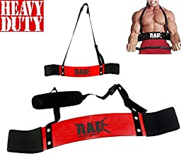 RAD Arm Blaster Body Building Bomber Bicep Curl Triceps Muscle Builder Red New
