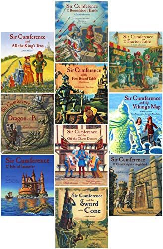 Sir Cumference Book Series Complete Set Pack ( Books 1- 10 )