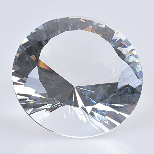 Crystal Diamond Cut Paperweight - 100MM - 4