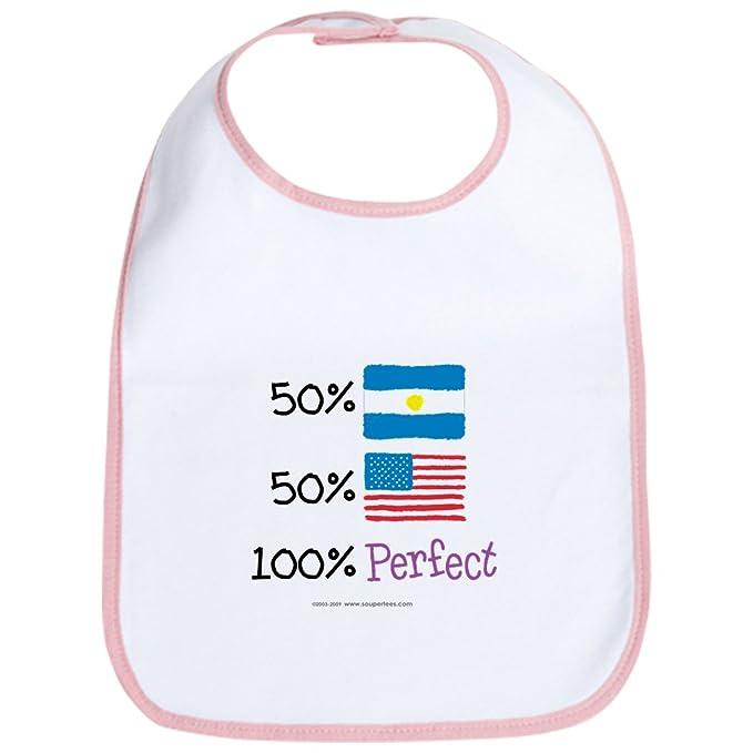CafePress – Argentina/diseño de bandera de Estados Unidos perfecto – Gamuza de – Babero