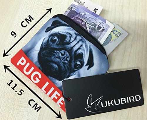Kukubird Varios Impresión Plaza Monedero Billeteras Con Polvo Kukubird Bolsa Owl