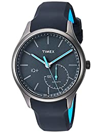 Timex Men's TW2P94900 IQ+ Move Activity Tracker Gray/Black/Blue Silicone Strap Smart Watch