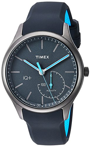 Timex Men's IQ+ Move Activity Tracker Silicone Strap Smart Watch
