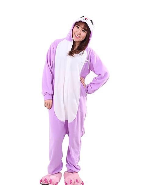 MissFox Pijamas Enteros Kigurumi Disfraces Cosplay de Animales para Adultos Disfraz Pijama Hombre Mujer Kigurumis Anime
