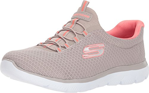 Skechers Summits Womens Slip On Bungee Sneakers Taupe 7.5 W ()