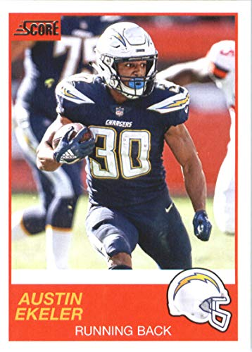 2019 Score Football #27 Austin Ekeler Los Angeles Chargers Official NFL Trading Card From Panini