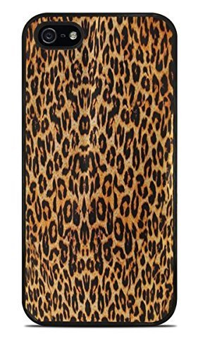 Classic Cheetah Print Black Silicone Case for iPhone 5 / - Charger 5s Cheetah Iphone