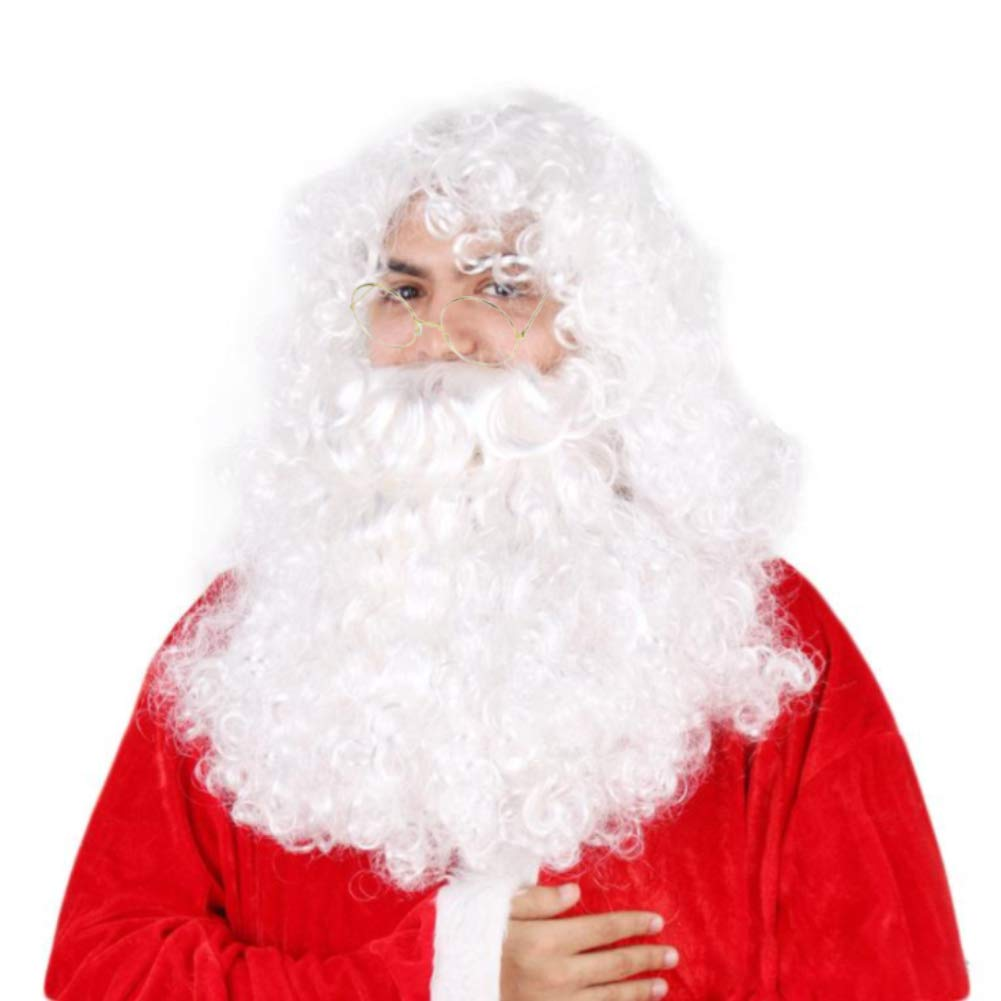 BigOtters Santa Wig, beard and glasses