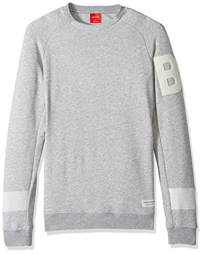 (Bjorn Borg Men's Lynx Crew Neck Grey, Light Grey Melange, Medium)