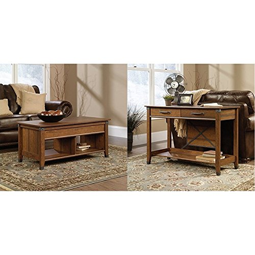 sauder-carson-forge-lift-top-coffee-table-washington-cherry-finish-sauder-carson-forge-sofa-table-wa