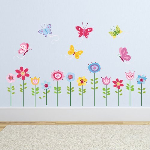 Bright Butterfly Garden Decorative Peel & Stick Wall Art Sticker Decals by CherryCreek Decals (Image #2)