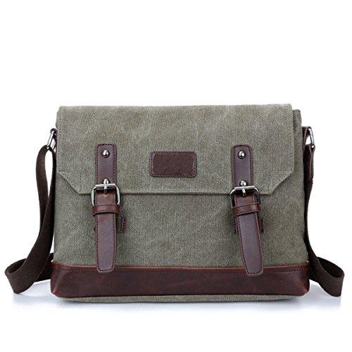 Borsa Di Lavoro Canvas Messenger Bag Della Cartella Della Spalla Bookbag Scuola Per Uomini E Donne Laptop,B-OneSize