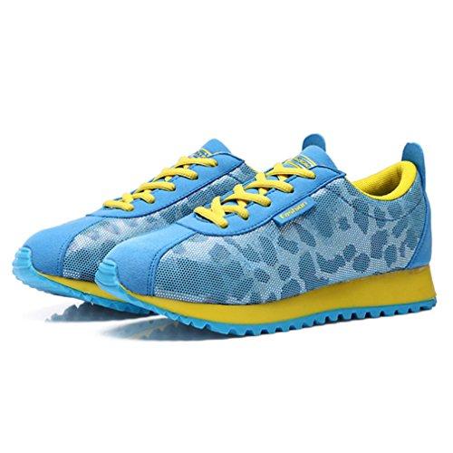 Zapatillas Mujer Amarillo y altas LFEU azul SqdwFFZ