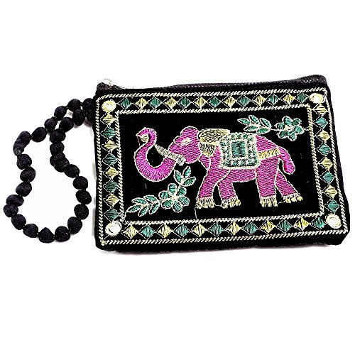 Shree Exports Indian Shelf Handmade Multi Color Embroidered Indian Cotton Bags Mobile Pouchs For Iphone, Samsung, htc Bags Money Purses B 81