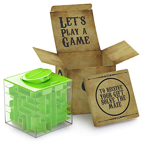 aGreatLife Money Maze Puzzle Box - Unique Money Storage