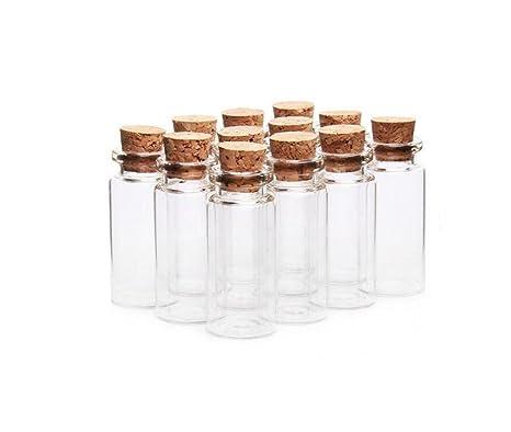 6pcs Cristal deseos botellas con Corchos Tope de Kleine Mini Botella de cristal Vasos Mensaje boda