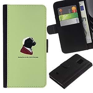 All Phone Most Case / Oferta Especial Cáscara Funda de cuero Monedero Cubierta de proteccion Caso / Wallet Case for Samsung Galaxy S5 Mini, SM-G800 // Gangster Skunk Animal - Funny
