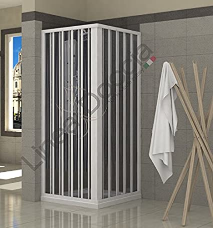 Mampara de ducha plegable de PVC, 2 lados, 70 x 90 cm: Amazon.es ...