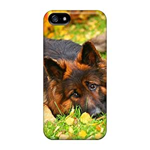 Fashionable DaEKsqo7100zmHFs Iphone 5/5s Case Cover For German Shepherd Lying In The Grass Protective Case