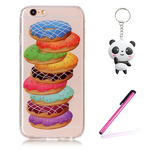 iPhone 6 / 6S Hülle Farbe Hamburger Premium Handy Tasche Schutz Transparent Schale Für Apple iPhone 6 / 6S + Zwei Geschenk