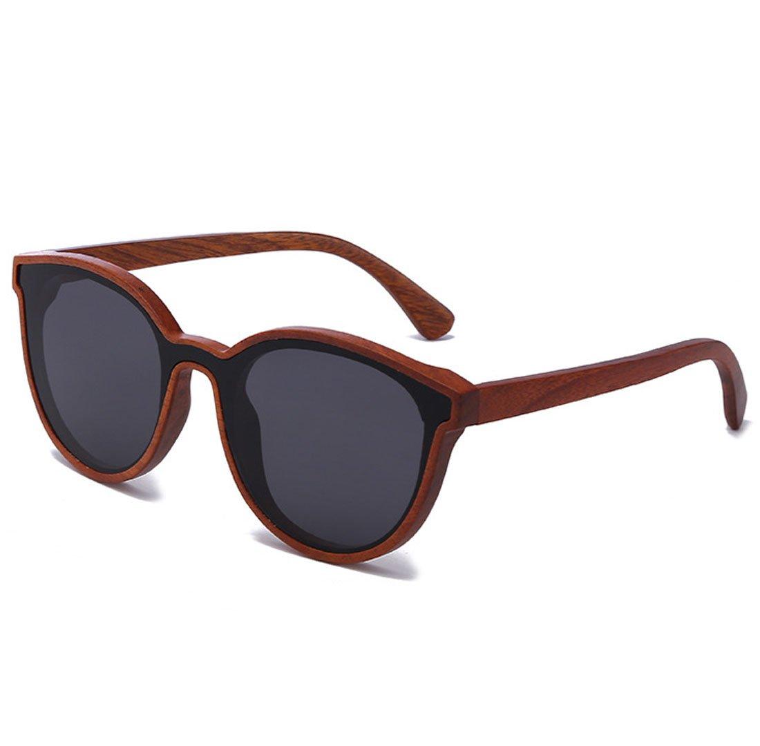 QQBL Sichtbare Helle Perspektive des Hochwertigen Retro- Roten Sandelholzes PC (%) Allgemeine Sonnenbrille UV400 Männer und Frauen