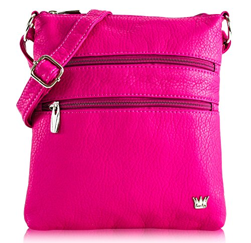 - Purse King Heiress Cross Body Bag (Hot Pink)