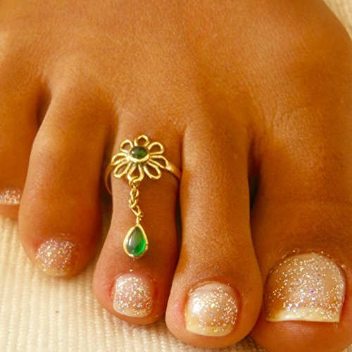 Foot Ring Foot Accessories Gifts Under 20 Adjusable Toe Ring Brass Toe Ring Foot Jewelry Gemstone Toe Ring Toe Ring
