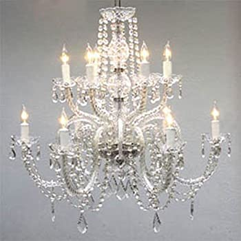 Swarovski crystal trimmed chandelier crystal chandelier h38 w37 chandelier lighting crystal chandeliers h27 x aloadofball Gallery