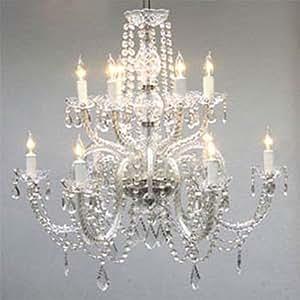 "Chandelier Lighting Crystal Chandeliers H27"" X W32"""