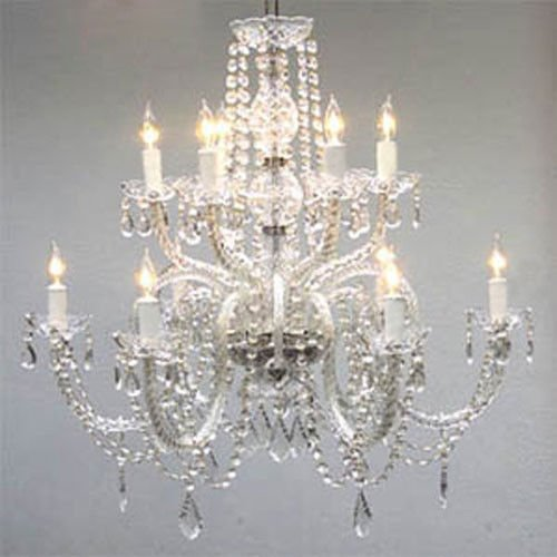 Large crystal chandelier amazon chandelier lighting crystal chandeliers h27 x w32 aloadofball Image collections