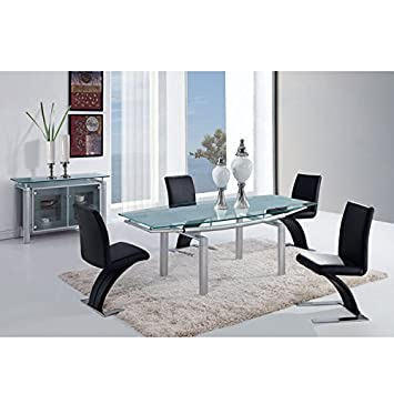 global furniture usa furniture piece dining table silver legs