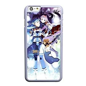 Grouden R Create and Design Phone Case,Sword Art Online Asuna and Yuuki Cell Phone Case for iPhone 6 6S 4.7 inch White + Tempered Glass Screen Protector (Free) GHL-5543617